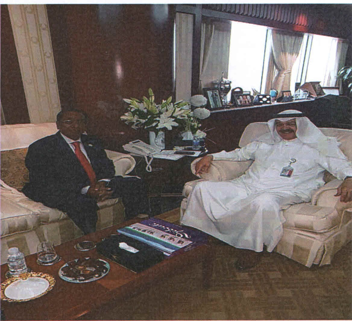 Meeting with the Chairman of the Board of Directors of Kuwait Airways Company